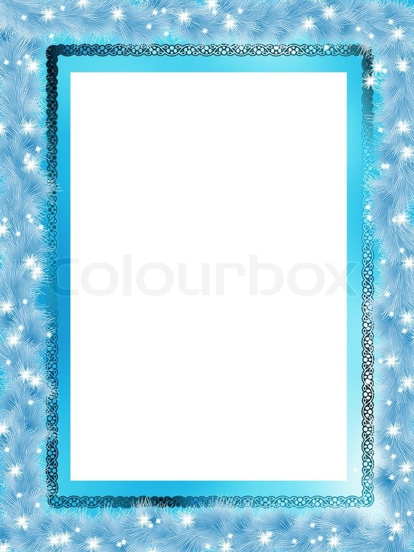 template frame design for christmas card eps 8 vector file included stock vector colourbox
