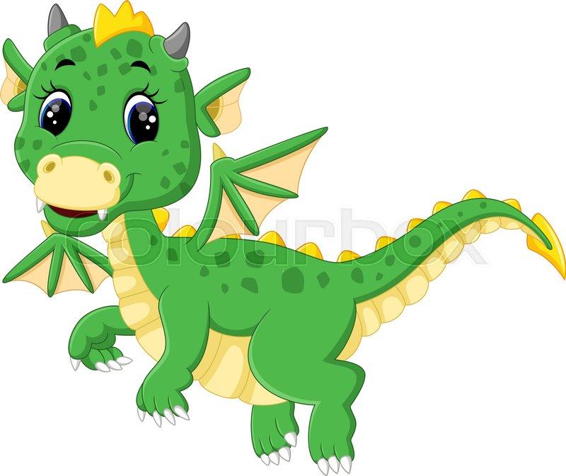 Illustration Of Cute Dragon Cartoon