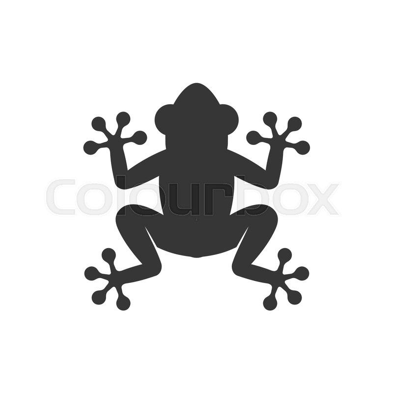 frog icon logo on white background vector illustration stock rh colourbox com Frog Silhouette Vector The Crocodile