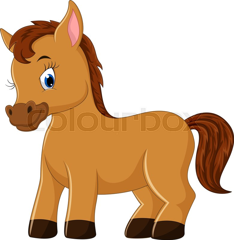illustration of cute horse cartoon stock vector colourbox rh colourbox com cartoon horse pictures free download cartoon horse images hd