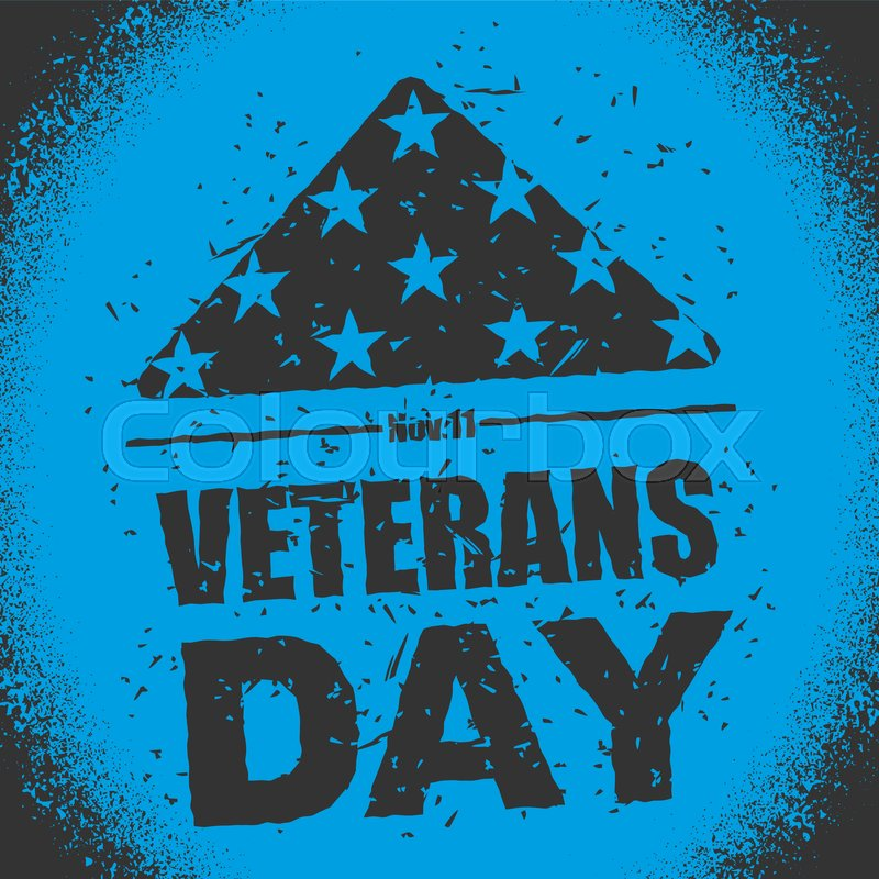 Veterans Day In Usa Flag America Folded In Triangle Symbol Of