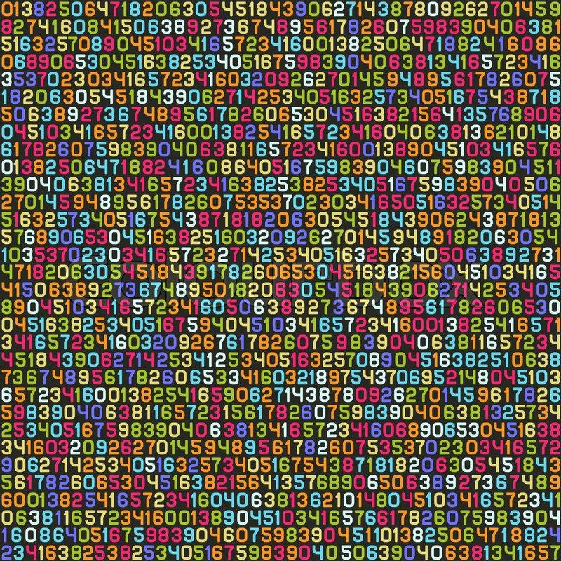 Seamless Color Decimal Computer Code Stock Vector Colourbox