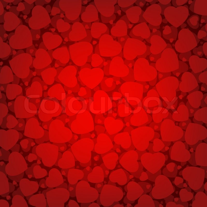 Red Valentine S Day Background With Hearts Stock Vector Colourbox