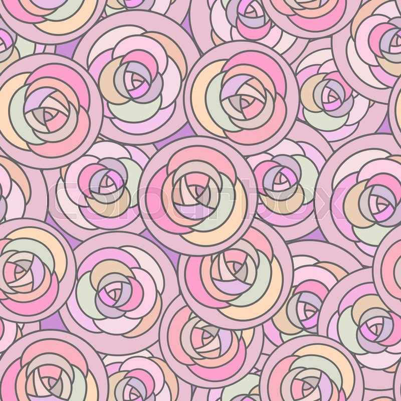 Vector Seamless Pattern With Outline Stock Vector Colourbox