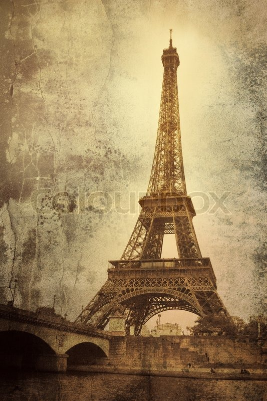 Vintage Picture Of The Eiffel Tower - Paris - France -8094