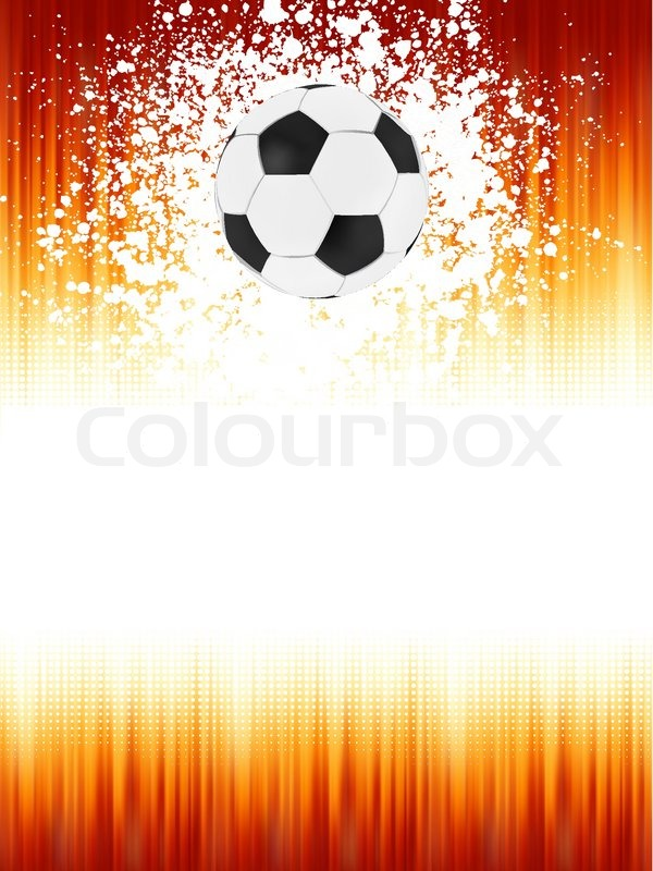 Football Banner With The Ball On A Red Stock Vector