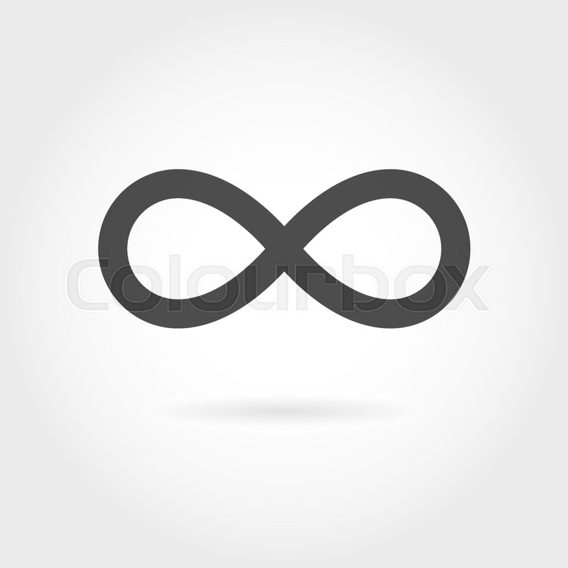 Limitless Icon Simple Mathematical Sign Isolated On White