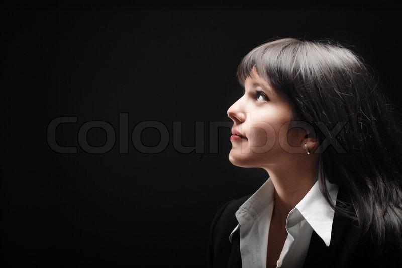 Porträt von brunette Mädchen auf  | Stock Bild | Colourbox