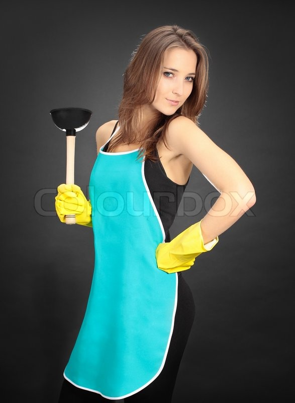 Woman With A Plunger 116