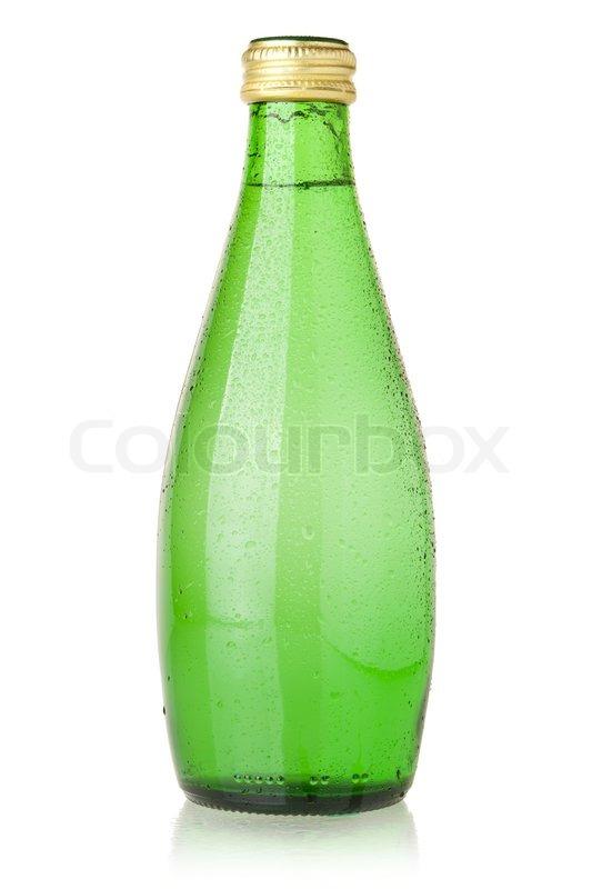 soda wasser in glasflaschen mit tropfen stockfoto colourbox. Black Bedroom Furniture Sets. Home Design Ideas