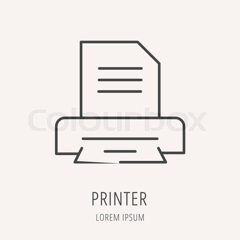 Logo or label printer  Line style     | Stock vector | Colourbox