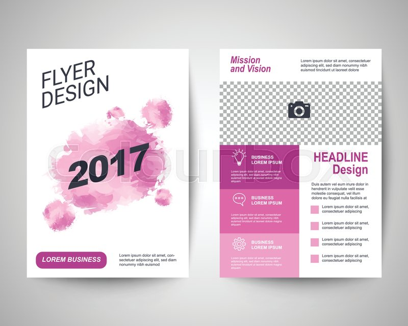 2017 pink abstract flyer layout template brochure background