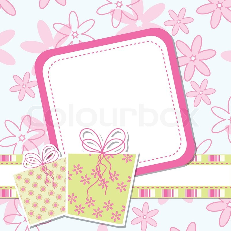 Template greeting card, vector illustration, eps10 | Stock ...