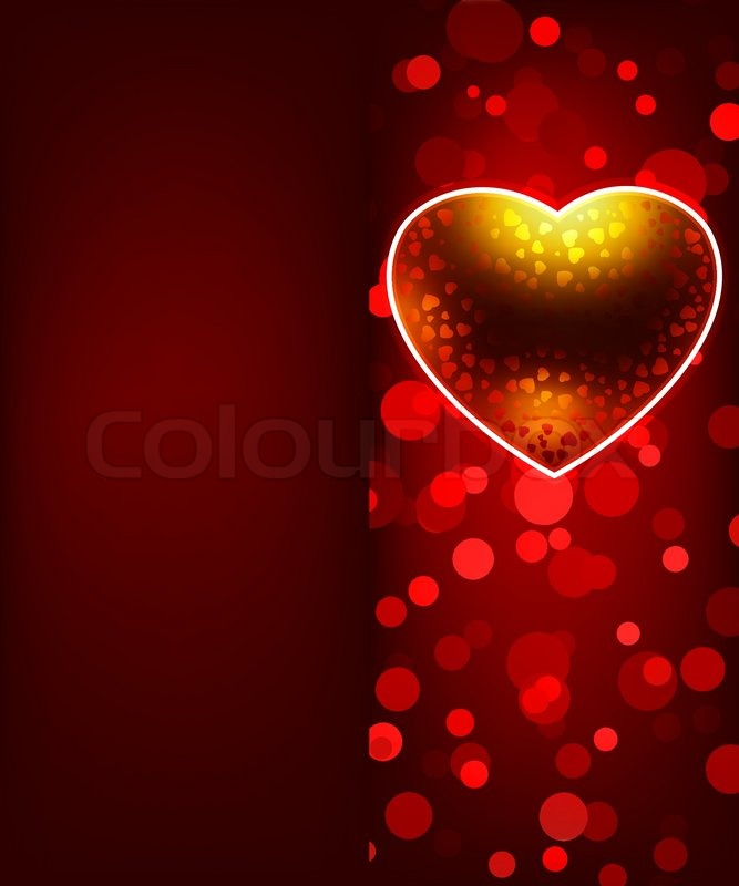 the valentines day card template stock vector colourbox - Valentines Day Template
