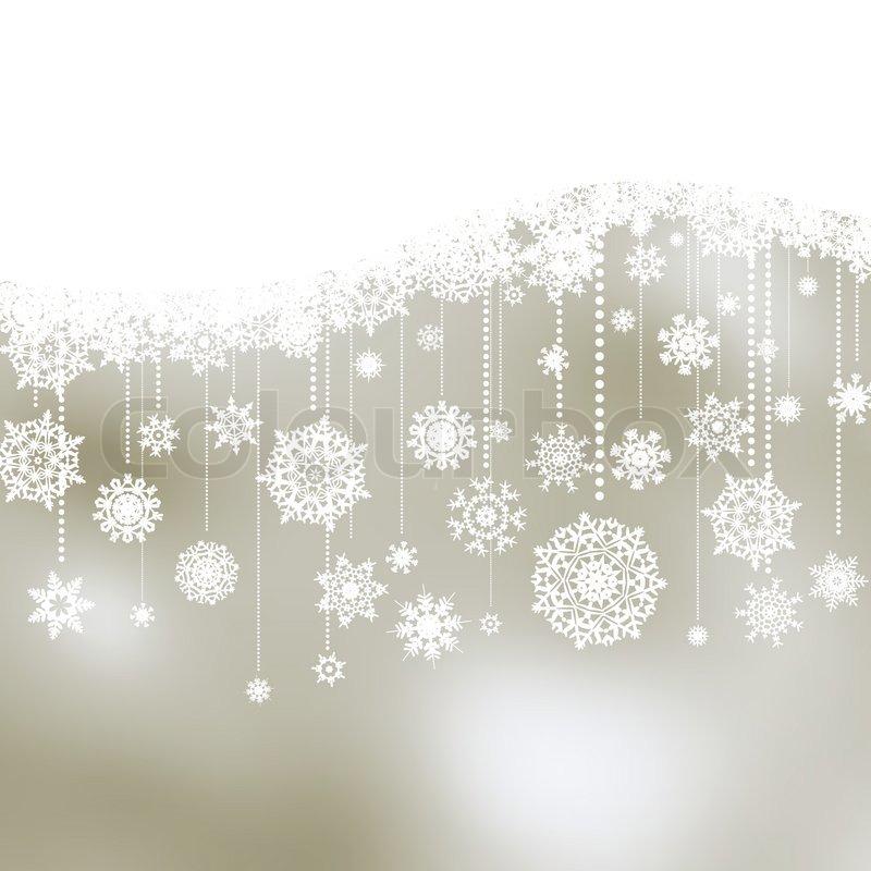 weihnachten hintergrund mit schneeflocken stock vektor. Black Bedroom Furniture Sets. Home Design Ideas