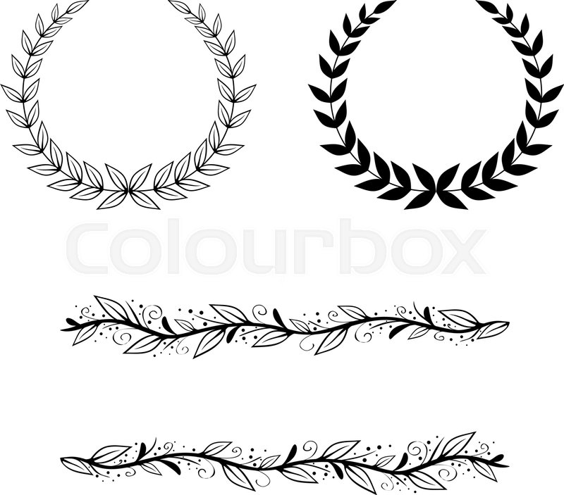 Natural Leaf and Border Frame and Border Collection | Stock Vector ...