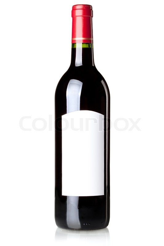 Wine collection - Red wine in bottle with blank label ...