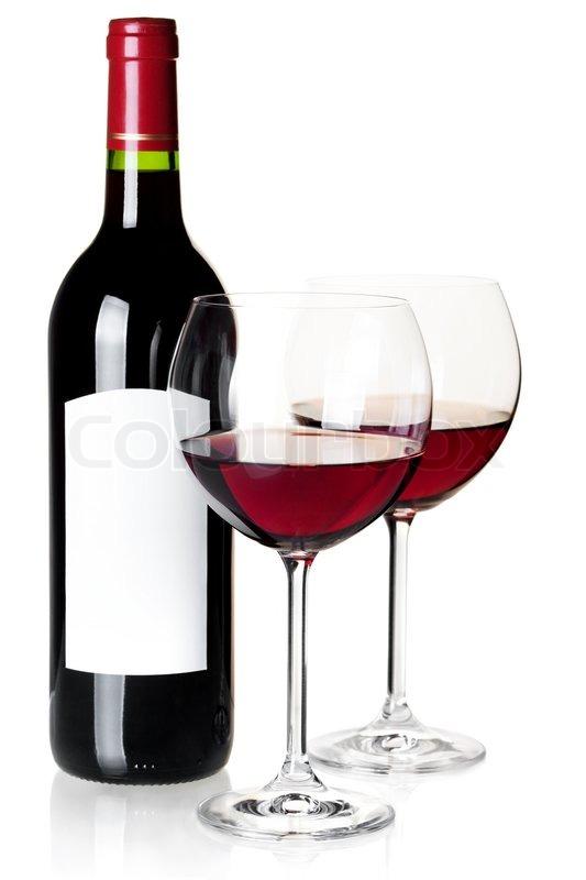 Weinglas Auf Flasche : vinothek wein flasche und glas auf wei em hintergrund stockfoto colourbox ~ Watch28wear.com Haus und Dekorationen