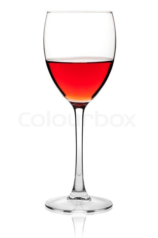 vinothek rose wein in einem glas auf wei em hintergrund stockfoto colourbox. Black Bedroom Furniture Sets. Home Design Ideas