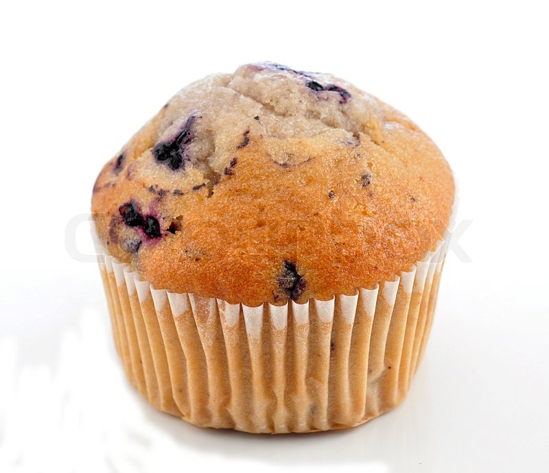 Blueberry Muffin On White Background Stock Photo Colourbox