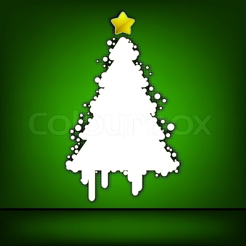 Weihnachtsbaum green card 8 eps vektordatei enthalten vektorgrafik colourbox - Weihnachtsbaum vektor ...