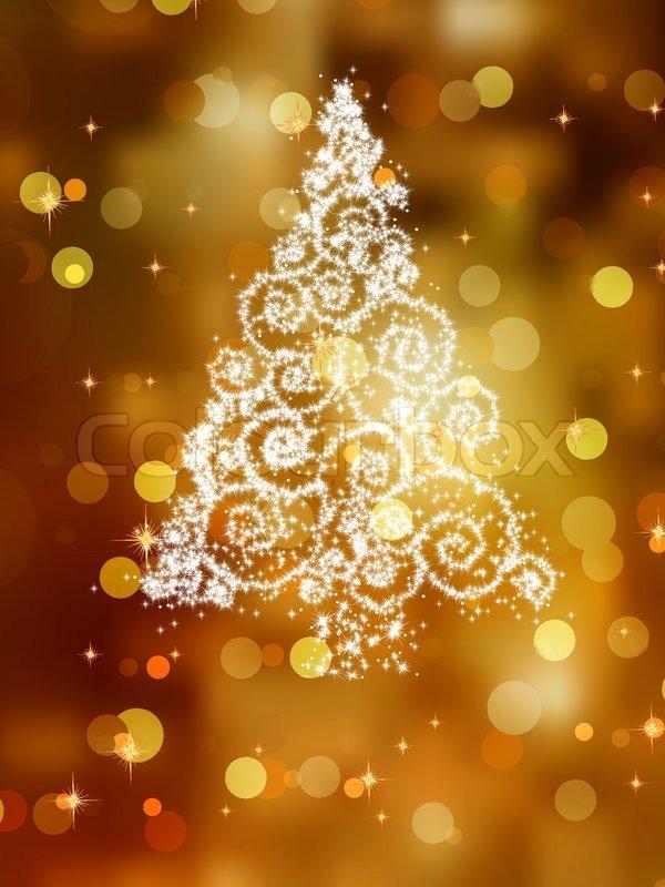 Weihnachtsbaum abbildung auf goldenem hintergrund vektorgrafik colourbox - Weihnachtsbaum vektor ...