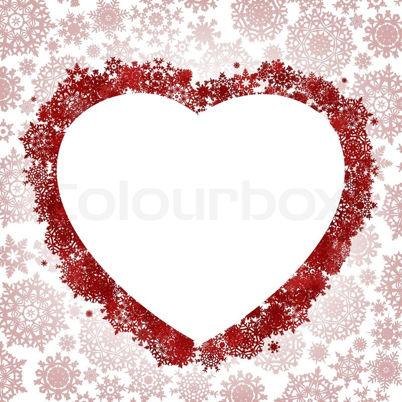Christmas card - frame in the shape of heart | Stock Vector ...