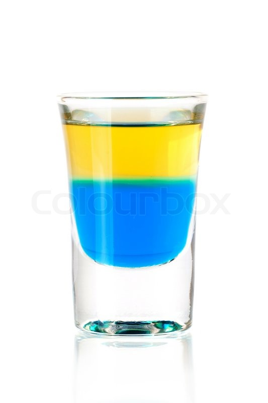 Shot Cocktail Collection Blue Tequila Alcohol Cocktail