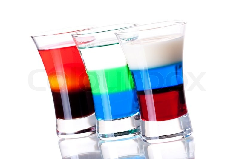 Shot cocktail collection: Morning, Anabolic and Russian Flag ...