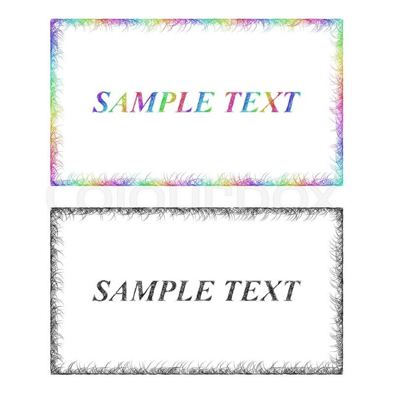 Colorful and monochrome sketch business card frame designs stock colorful and monochrome sketch business card frame designs stock vector colourbox colourmoves