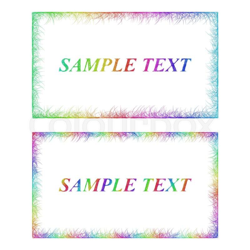 sketch business card border templates   stock vector