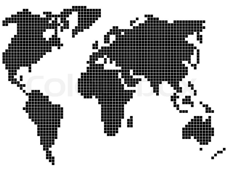 Pixel world map stock vector colourbox gumiabroncs Images