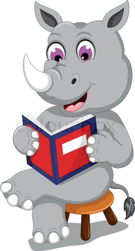 Image result for rhino reading a book