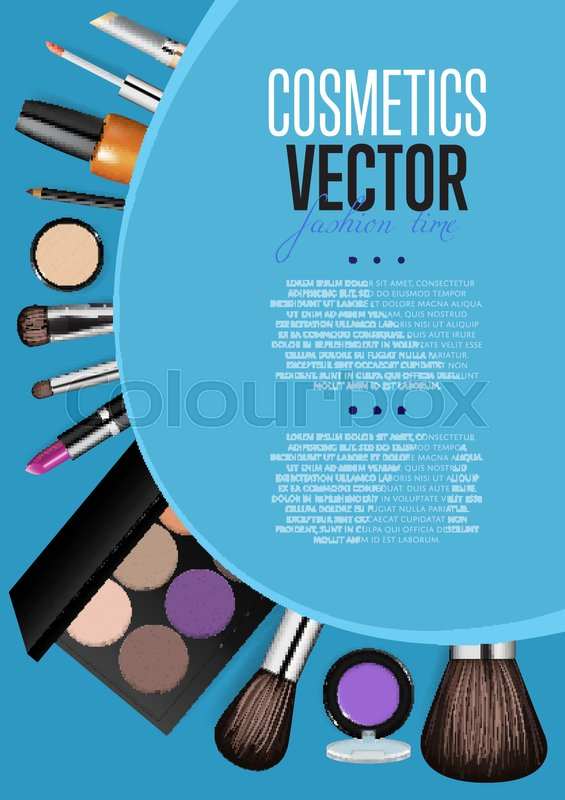 Cosmetic Product Presentation Booklet Cover Makeup
