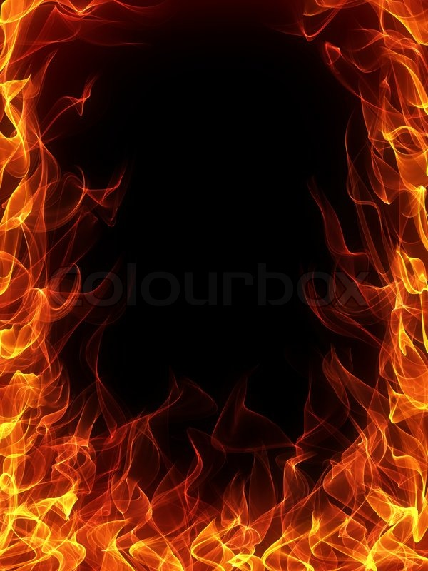 Fire and flame frame on black background stock photo colourbox voltagebd Images