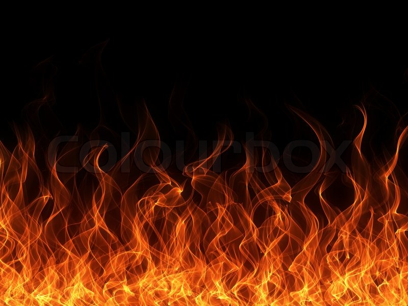 Blue Fire Flame Background Borders