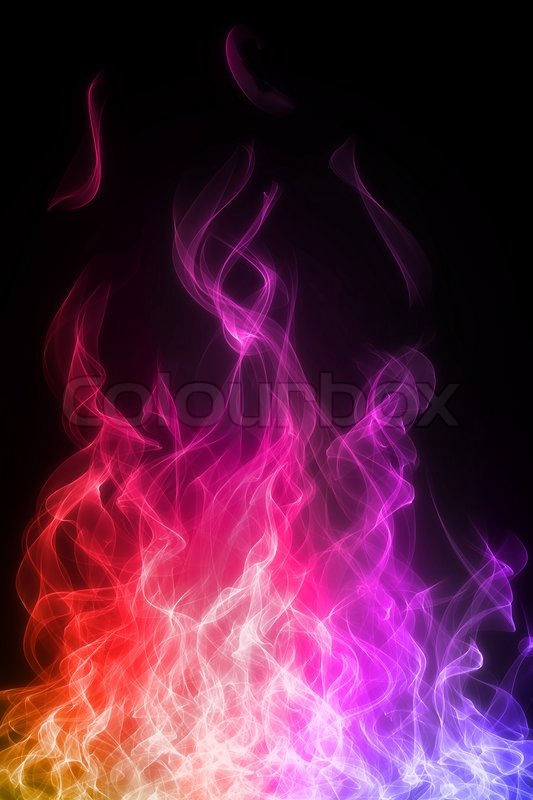 Fire And Flame On Black Background Stock Photo Colourbox