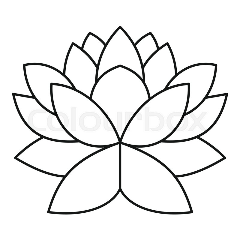 Lotus flower icon outline illustration of lotus flower vector icon lotus flower icon outline illustration of lotus flower vector icon for web design stock vector colourbox mightylinksfo