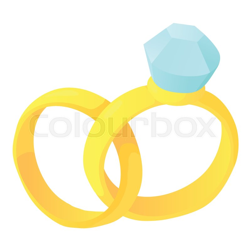 Wedding Rings Icon Cartoon Stock Vector Colourbox