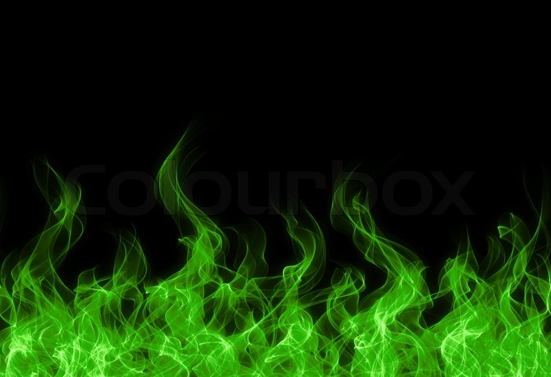 Green Fire Wallpaper Background Green toxic fire flame...
