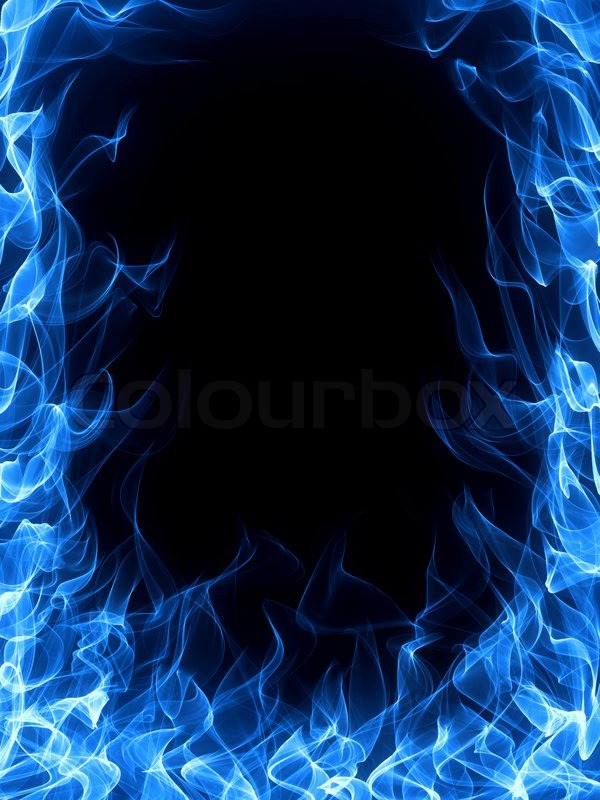 Gas fire and flame frame | Stock Photo | Colourbox