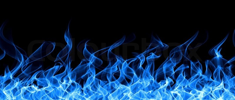 Seamless Gas Fire And Flame Frame Border Stock Photo