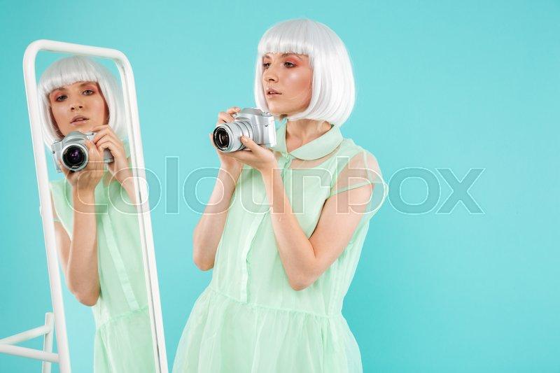Think, what amateur blonde phone selfie joke? What