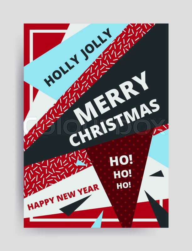merry christmas new year design eye catching banner template bright colorful vector illustrations for greeting card posters print mobile phoned designs