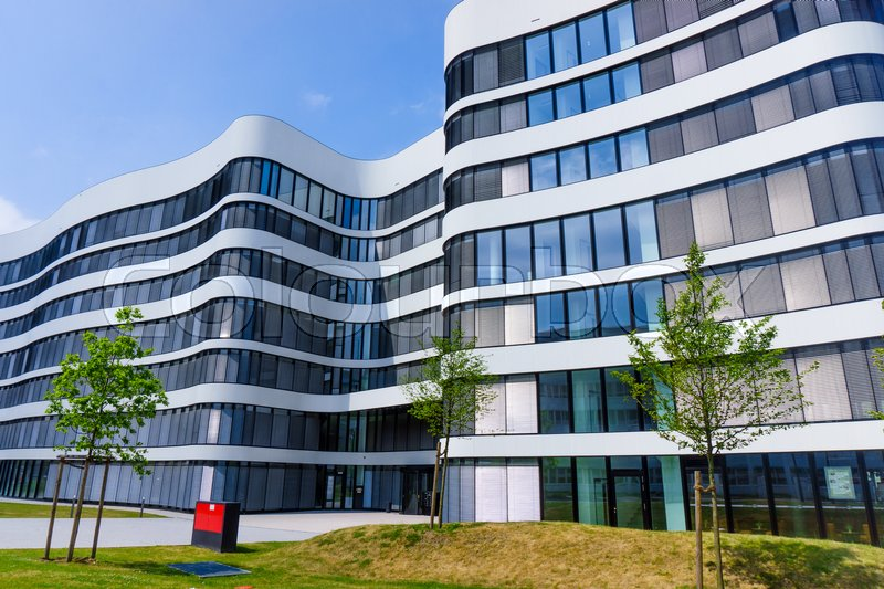 Cityscape office buildings with modern corporate architecture. exterior of a modern office building. Modern building, stock photo