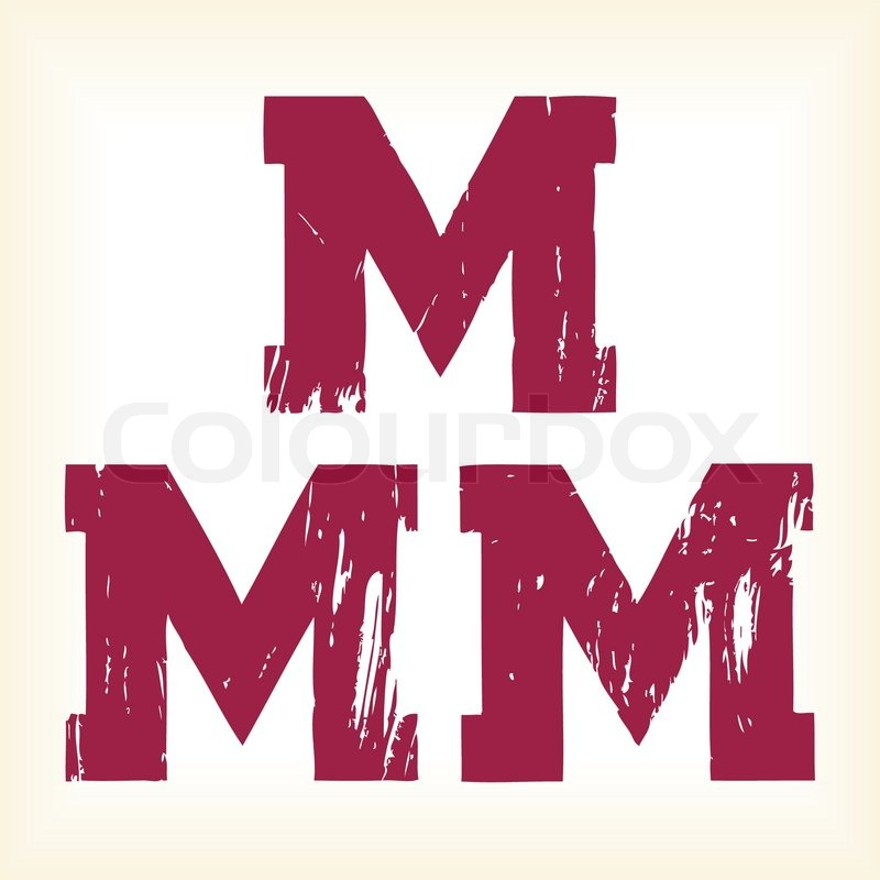 Stock Vector Of Grunge M Letter