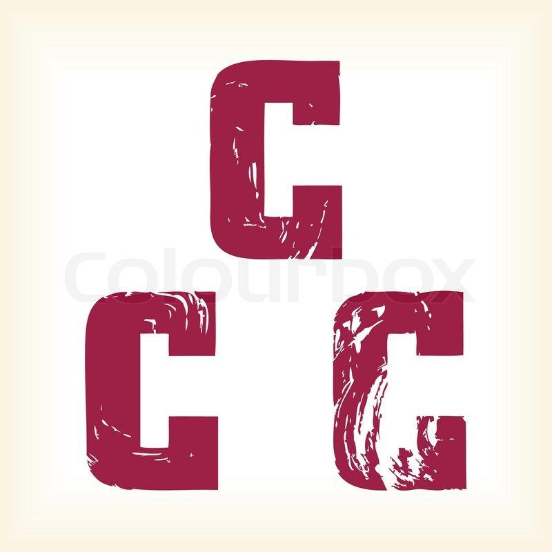 Grunge Vector C Letter