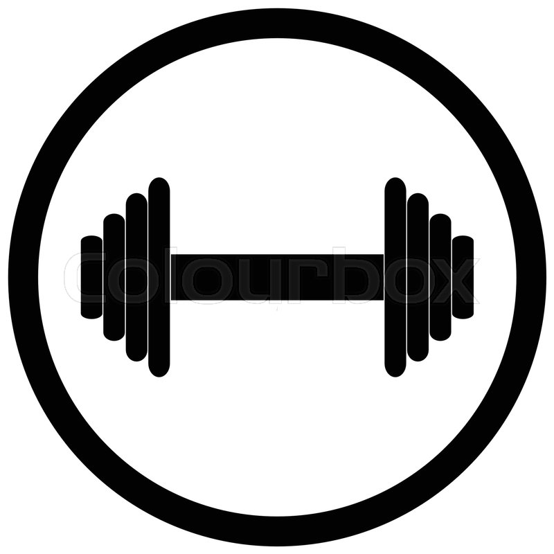 Dumbbell Icon Vector Dumbbell black ...