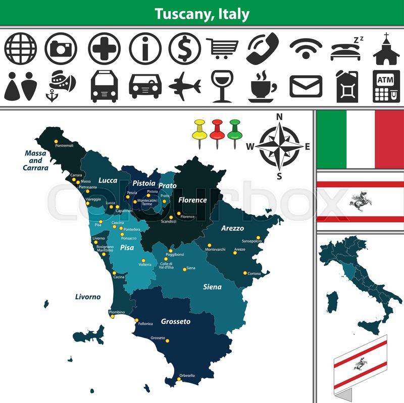 Vector map of Tuscany with regions and ...   Stock vector ... on comacchio italy map, punta ala italy map, pienza italy map, narni italy map, road distances italy map, capannori italy map, tresana italy map, chianti italy map, codroipo italy map, pianosa italy map, cinque terre italy map, lavagna italy map, bogliasco italy map, florence italy map, coastal italy map, simple italy map, noce italy map, porto venere italy map, arezzo italy map, conegliano italy map,
