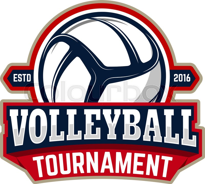 Volleyball Tournament Emblem Template Stock Vector Colourbox